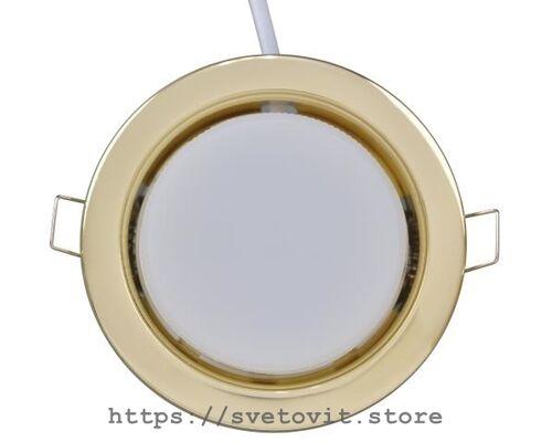 Светодиодный светильник встраиваемый GX53 Gold