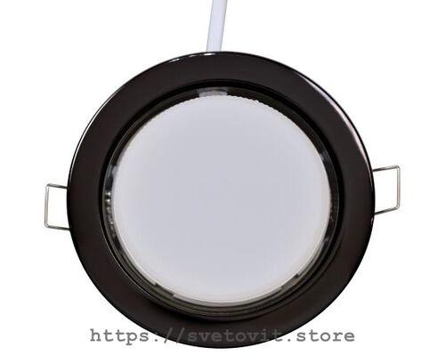 Светодиодный светильник встраиваемый GX53 Black