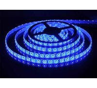 Светодиодная лента 3528 негерметичная 4.8W 12V синий свет 73558, 75899