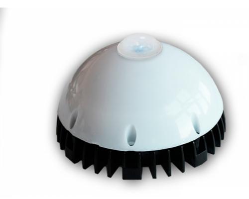 Cветильник ЖКХ D150 10W 220V IP54 на светодиодах OSRAM (Германия) с датч. движ. и осв,матовый