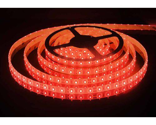 Светодиодная лента 3528 герметичная 4.8W 12V красный свет 75793