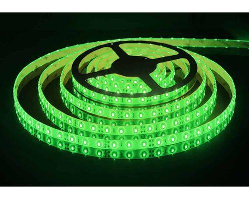 Светодиодная лента 3528 герметичная 4.8W 12V зеленый свет 75793