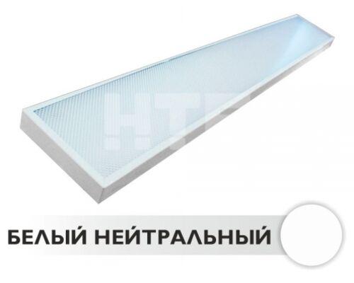 Светодиодный светильник HTF-001 1190х150х30 с аварийным блоком питания 32W 220V IP40 NI (NW)