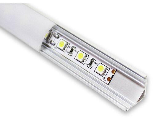Алюминиевый профиль для свет ленты AL-4 (2м) угловой LPU-1616-2 Anod 42465 (63286+2*42502+2*42501)