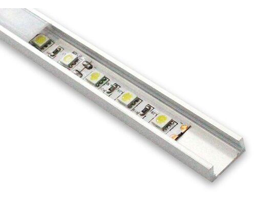 Алюминиевый профиль для светодиодной ленты AL-2 (2 м) накладной 31551 (19257+19213+2*19288)