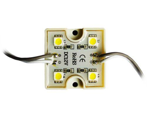 Светодиодный модуль герметичный 4 SMD5050 1W 12V IP65 7000K холодный свет 30912