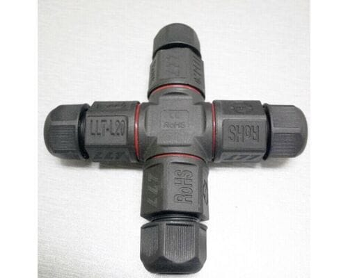 Х образный кабельный разъём L20 4x2.5мм IP67